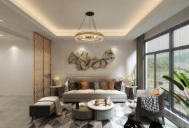 園城130平現代輕奢風格三房客廳圖片