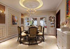 淺水灣200平米四室兩廳美式風格餐廳效果圖