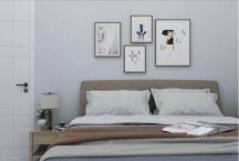 简单大气卧室背景墙装饰实景图