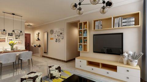 115平米北欧风格三居室客厅照片墙装修效果图