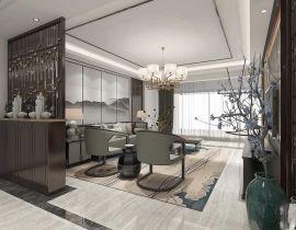 滇池星城169平米中式風格四房客廳裝修效果圖