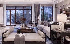 鑫江玫瑰园新中式130平三房客厅沙发效果图