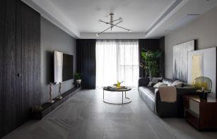 98平米现代简约都市风小户型客厅装修效果图