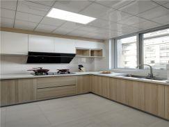 108平原木简约风三居室厨房图片欣赏