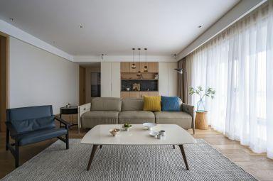 128平米现代简约U乐国际两室两厅客厅案例欣赏