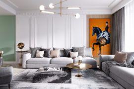 110平米轻奢现代简约风格三房装修效果图