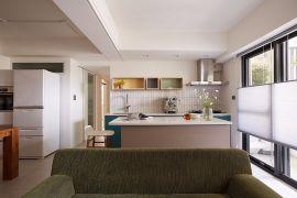 120平米現代風格三房客廳裝修實景圖