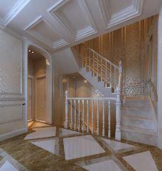 客厅暖色系楼梯效果图大全