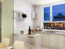 精雕细刻彩色厨房装饰图