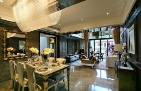 138平米现代简约三室餐厅装修效果图