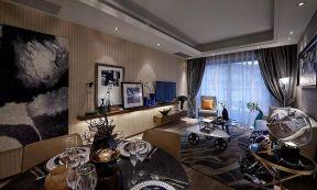 96平米现代简约二居室客厅装修效果图
