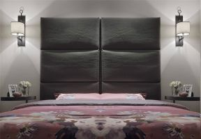 现代简约卧室背景墙家装设计图
