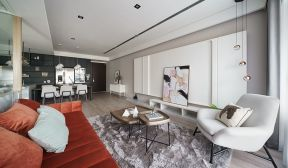 90平米現代簡約二居室裝客廳修效果圖