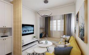 天賜椿城83平米現代簡約二居室客廳效果圖