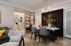 2019现代餐厅效果图 2019现代地板砖设计图片