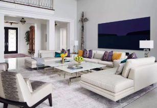 三房改四房客厅白色沙发设计