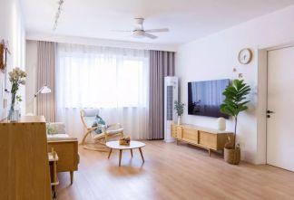 140平米日式套房客厅地板装修效果图