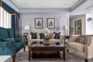 143平米轻奢美式三室两厅榻榻米和书房装修图片