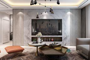 110平米港式轻奢设计二居室装修效果图