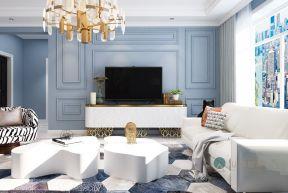 128平米美式风格三居室设计效果图