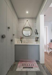 设计优雅灰色卫生间装饰设计图片
