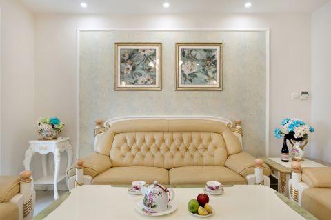 客厅白色背景墙装饰设计图片