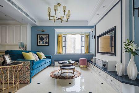 美式风格三室两厅91平装修效果图