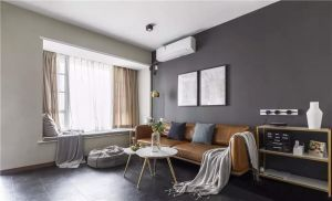 100平米现代简约主义三室两厅效果图