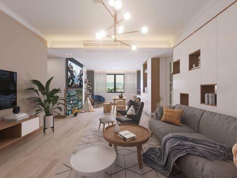 110平米打造原木色系温暖北欧风二居室家居