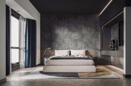 卧室背景墙现代简约装修案例