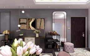 美式客厅背景墙装修图