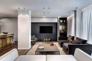 客厅背景墙现代室内装修设计
