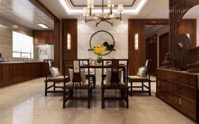 2019新中式餐厅效果图 2019新中式餐桌装修图片