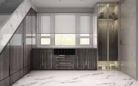 厨房灰色橱柜装饰实景图片
