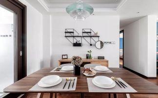 简单大气北欧原木色餐桌装修图