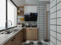 厨房暖色系地板装饰图片