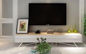2019简约客厅装修设计 2019简约电视柜装修效果图片
