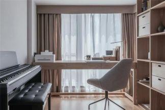88平米日式MUJI風三室兩廳多功能書房圖片