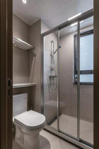 简单大气卫生间地板砖设计图欣赏