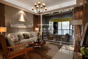 客厅米色地板砖装饰实景图