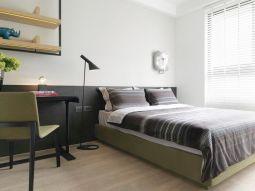 卧室彩色床装潢实景图片
