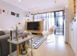 北欧风格一房一厅户型32平方效果图