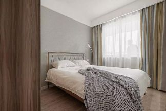 卧室背景墙北欧装潢效果图