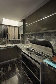 现代厨房灶台装饰实景图