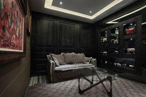 书房黑色书架装饰设计