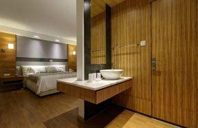 卧室背景墙现代简约装饰效果图