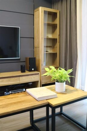 2019现代客厅装修设计 2019现代电视柜装修效果图片
