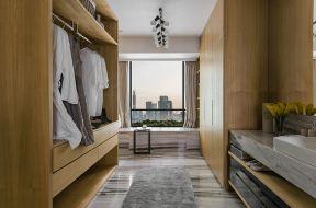 创意原木色木衣柜效果图