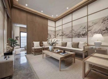 2019中式150平米效果图 2019中式三居室装修设计图片
