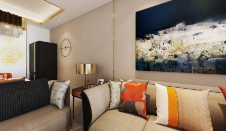 云路裕庭105平现代风二居室设计装修效果图